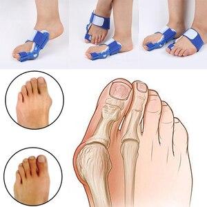Image 1 - Dobrej jakości duży przyrząd do prostowania palców u nóg zespół cieśni kanału nadgarstka palucha koślawego korektor dzień szyna na noc ulgę w bólu nylon bluk