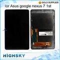 1 Шт. Бесплатная Доставка Tablet Черный Испытано ЖК-ДИСПЛЕЙ Для ASUS Google Nexus 7 Дисплей первого Поколения ME370 Экран С Сенсорным