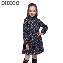 Children Dresses for Girls Floral Long Sleeve Dresses 2017 Kids Formal Clothes Infant Spring Loose Vestidos Girls A Line Dresses princess lace dresses for girls long sleeve ruffles dresses infant vestidos children clothes 4 6 8 10 12 years kids formal dress