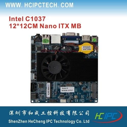 2HCIPC M4103-1 Nano ITX-1037-1ICR,C1037+NM70 Motherboard 12*12CM MB, VGA+HDMI,12V DC PWR,C1037 Nano ITX motherboard