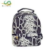 Mlitdis бренд Модные женские туфли рюкзак искусственная кожа под змеиную кожу школьная сумка Mini рюкзаки женские рюкзаки для девочек-подростков