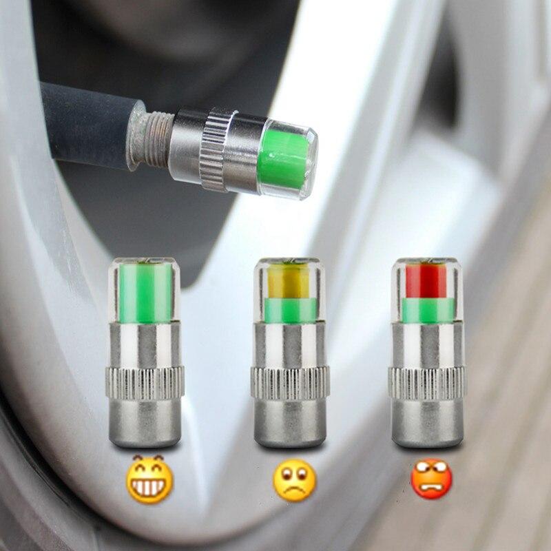 4 pièces 2.0Bar 30PSI voiture Auto pression des pneus moniteur Valve tige bouchons capteur indicateur alerte oculaire outils de Diagnostic Kit