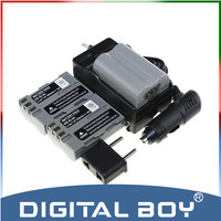 Digital Boy 5PCS SET 3 PCS EN EL3e ENEL3e EN EL3E Bateria Battery Battery Charger Car