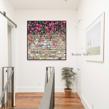 100% best handpainted flower Oil Painting on Canvas Palette knife Tree 3D Flowers wall Home Decoration for living room