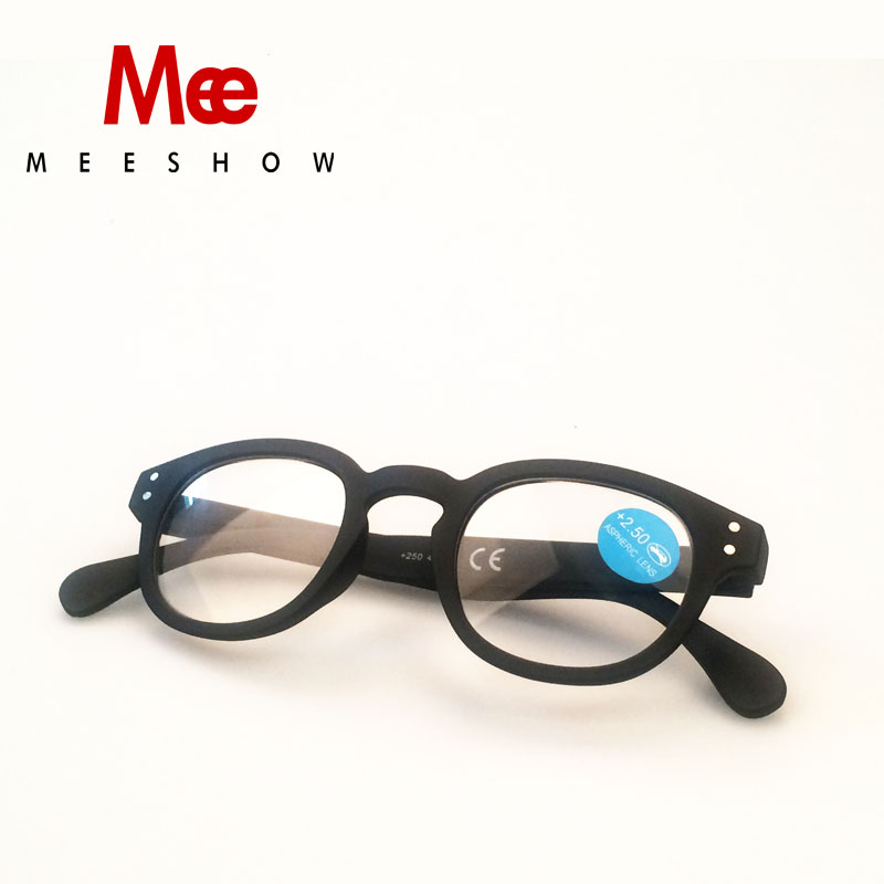 Kacamata baca bulat termasuk kantong gaya Eropa Eropa Pria wanita kacamata baca dengan fleksibel + 1.0-4.00 1513 dengan kantong