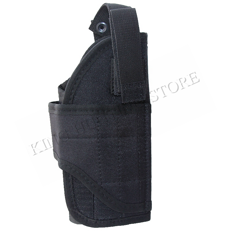 For GL17 <font><b>1911</b></font> USP SP2022 Right handed Military Adjustable Airsoft Hunting Pouch <font><b>MOLLE</b></font> Vertical Tactical Vest Pistol <font><b>Holster</b></font> image