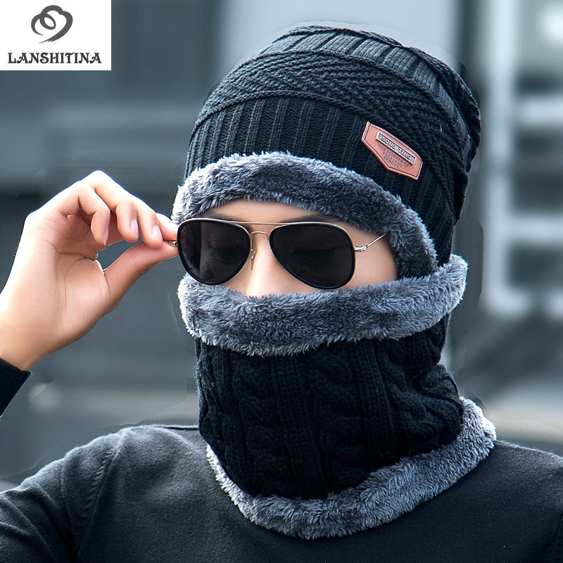Winter Unisex Knitted Hats Fashion Beanies Cashmere Wool Scarf Hats Women Men Ski Skull Caps Bonnet Gorro Warm Baggy Bouncy 7 colors unisex autumn winter warm beanies hats for women men metal wool knitted caps bonnet jv51