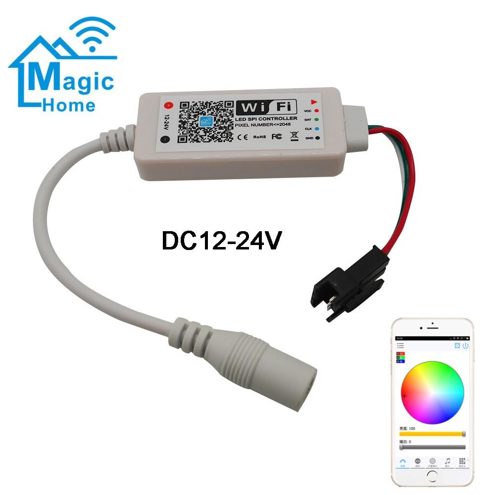Mini Wifi Magie Hause Led Spi Controller Dc5v Dc12-24v Address 2048 Pixel Controller Für Ws2811 Sk6812 Ws2812b Led Streifen Modische Und Attraktive Pakete Beleuchtung Zubehör