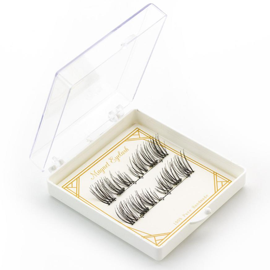 magnetic eyelashes 0.2mm thin False Eyelashes Synthetic Hair magnetic eyelash 3D Reusable extension lashes New 12.5