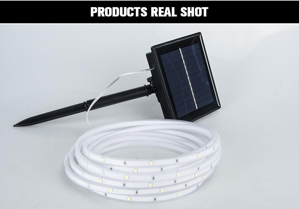 RGB LED Solar strip light (12)