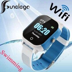 Funelego wodoodporny zegarek dla dzieci z GPS Wifi zegarek do pływania z ekranem dotykowym SOS smartwatch z funkcją telefonu dla dzieci bezpieczny anty-zgubiony