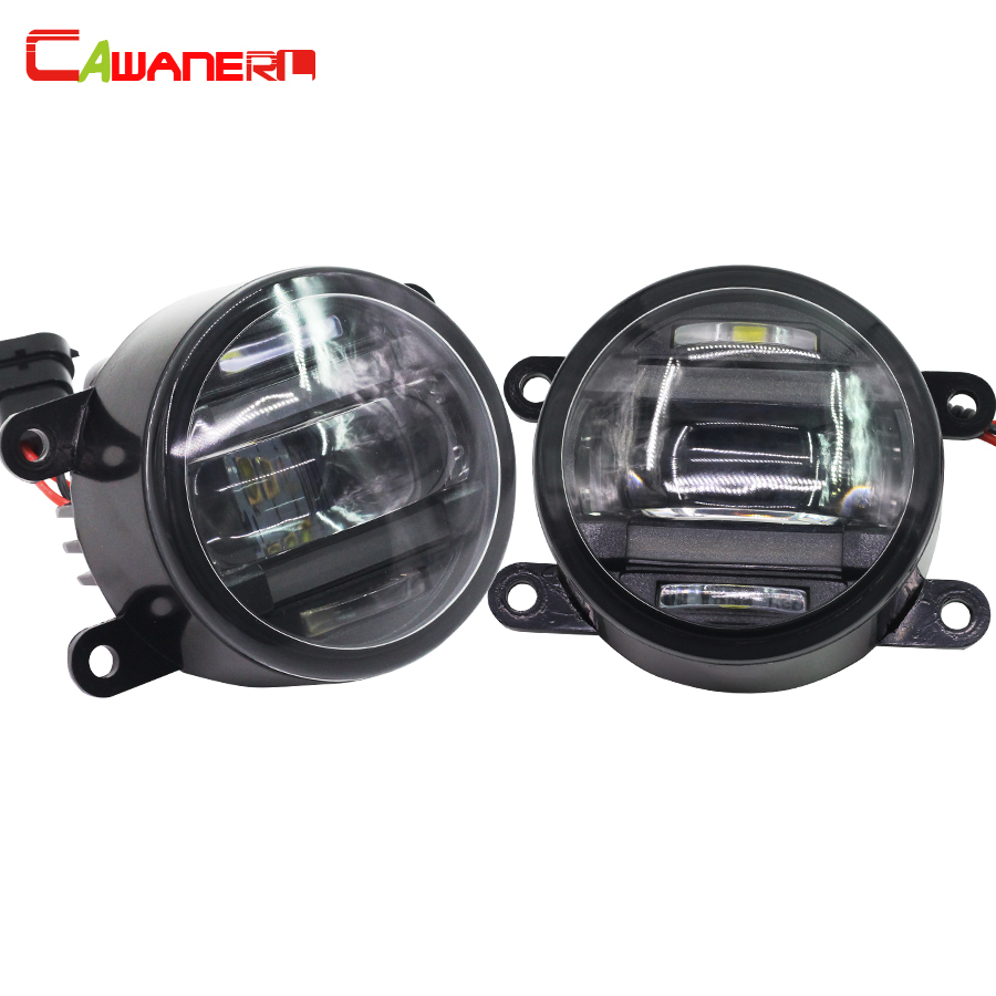 Cawanerl 1 Pair Car LED Front Fog Light DRL Daytime Running Lamp Accessories For Jaguar S-Type X-Type cawanerl 1 pair 100w h3 car led bulb 20 smd 2200lm white 6000k automotive fog light daytime running lamp headlight low beam drl