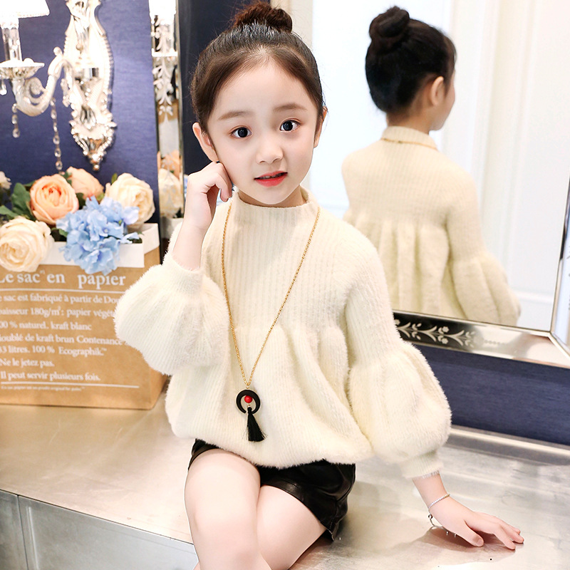 11,11 Angebote Mädchen Herbst Und Winter Explosionen Dicken Pullover Ärmeln Koreanische Version Des Einfarbig Damen Prinzessin Pullover