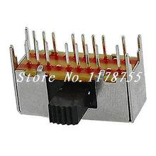 10 x 16 Pin 3 Position 4P3T Panel PCB Mount Horizontal Slide Switch SK43D01-G8