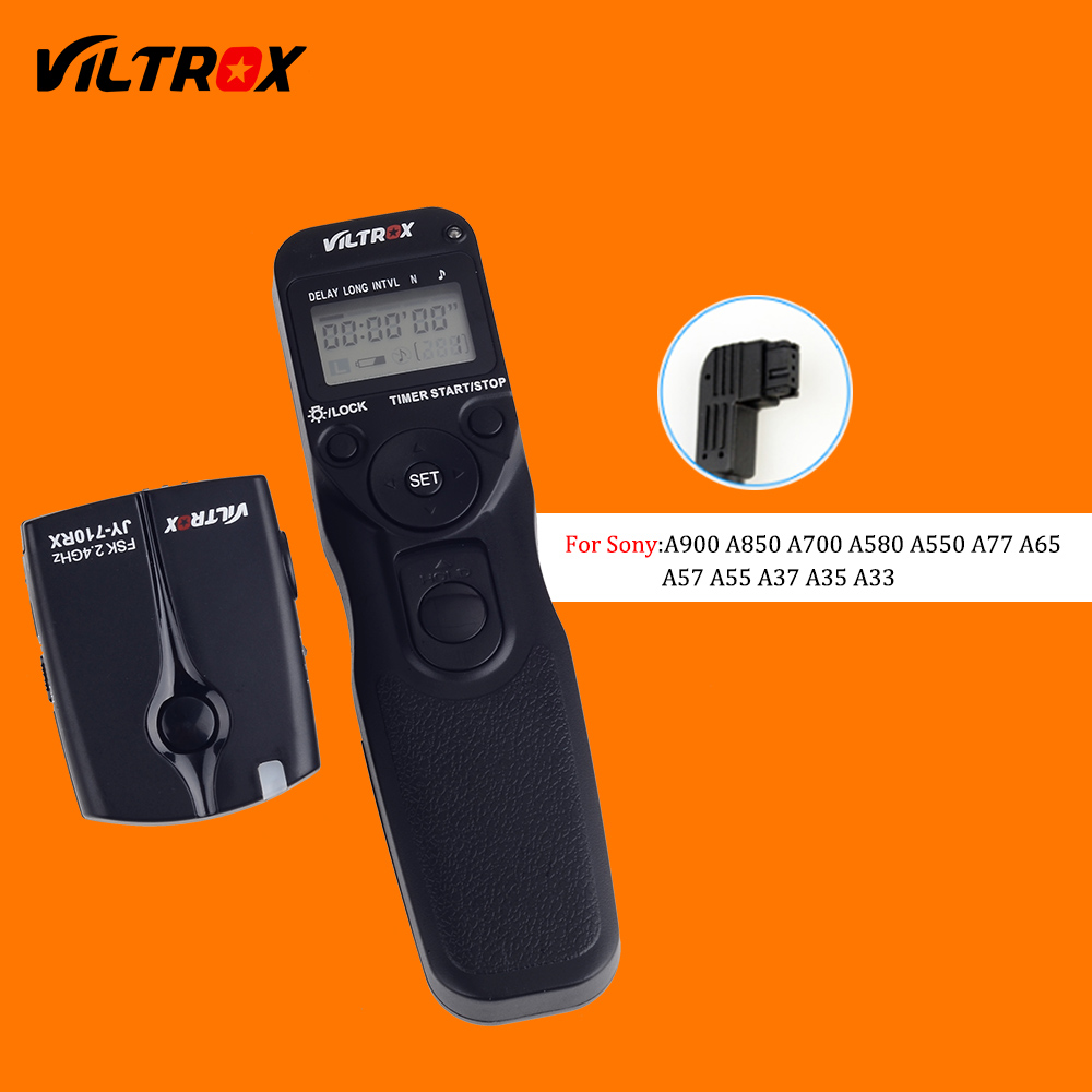 Viltrox JY-710-S1 Wireless Camera LCD Timer Shutter Release Remote Control for Sony A77 A65 A57 A37 A33 A700 A900 A550 DSLR viltrox jy 710 camera wireless timer remote shutter release control cable for canon nikon pentax panasonic sony a7 a6000 a6300