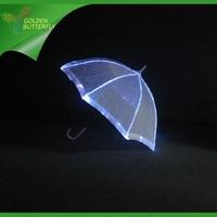 Luminous Umbrella Rain Women LED Illuminated Glowing Lace Dance optical fiber fabric Costumes Wedding Umbrella Dance Accessories
