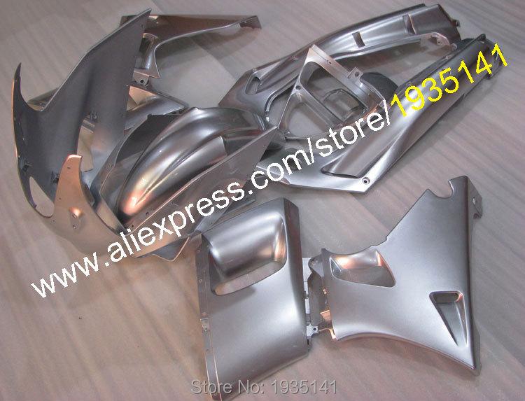 Горячие продаж,для Kawasaki ниндзя zzr400 с АБС обтекатель части 1993-2003 СЗР 400 93-03 СЗР-400 обтекатель полный серебряный комплект (литья под давлением)