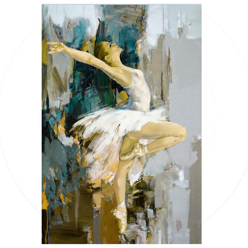 Modern Home Decoration Wall Art Hand painted Ballet Dancer Oil Painting on Canvas Handmade Girl Dancers