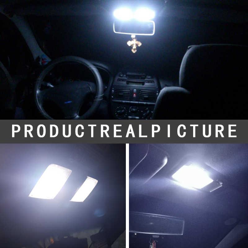 10 Pcs Festoon 31 Mm 36 Mm 39 Mm 41 Mm C5W CANBUS Ada Kesalahan Auto Lampu 12 SMD 4014 LED Mobil Interior Lampu Dome Membaca Bulb Putih DC12V