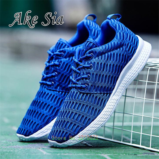 Spring Light mesh casual men shoes 2017 new breathable massage anti-odor man shoes large lace-up summer shoes zapatillas f00031