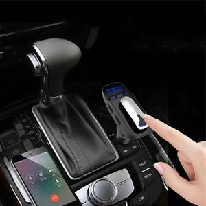 Image 3 - ER9 אוטומטי על/כיבוי מכונית דיבורית MP3 Bluetooth 4.2 אוזניות עם טעינת פונקציה שחור מתאם אלחוטי משדר #2