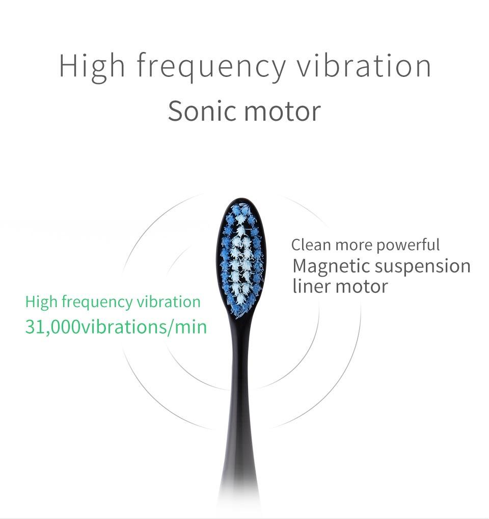 Aquí-Mega inducción Sonic Cepillos de dientes eléctricos Maglev ...