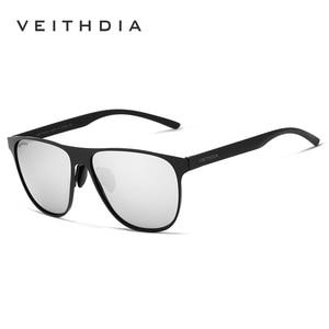 Image 2 - VEITHDIA ماركة مصمم للجنسين الفولاذ المقاوم للصدأ TR90 الرجال النظارات الشمسية الاستقطاب UV400 عدسة نظارات شمسية للنساء gafas دي سول 3920