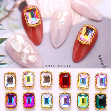 Manicure-Accessories Jewelry Nail-Art-Decoration Nail-Gems Ab Charms Square Rhinestone
