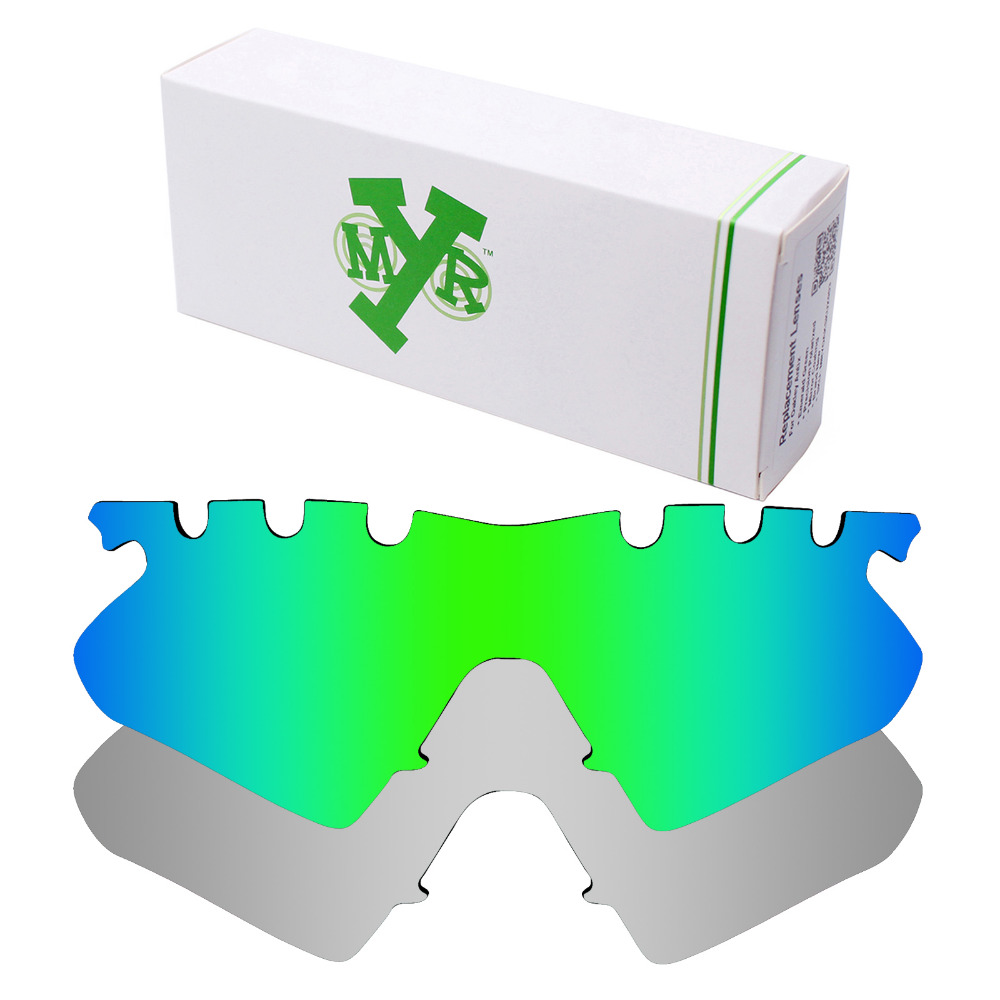 2 Pairs Mryok POLARIZED Replacement Lenses for Oakley M Frame Heater Vented Sunglasses  Silver Titanium   Emerald Green ce075a4952