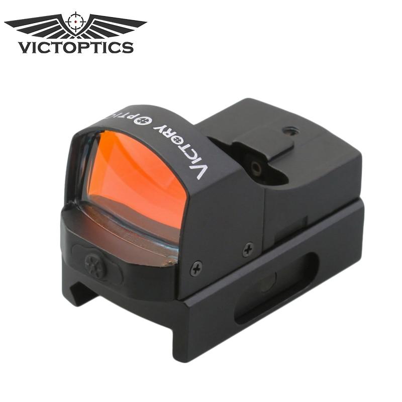цена на VictOptics 1x18 Red Dot Reflex Sight For Hunting Cheap Scope New Arrival