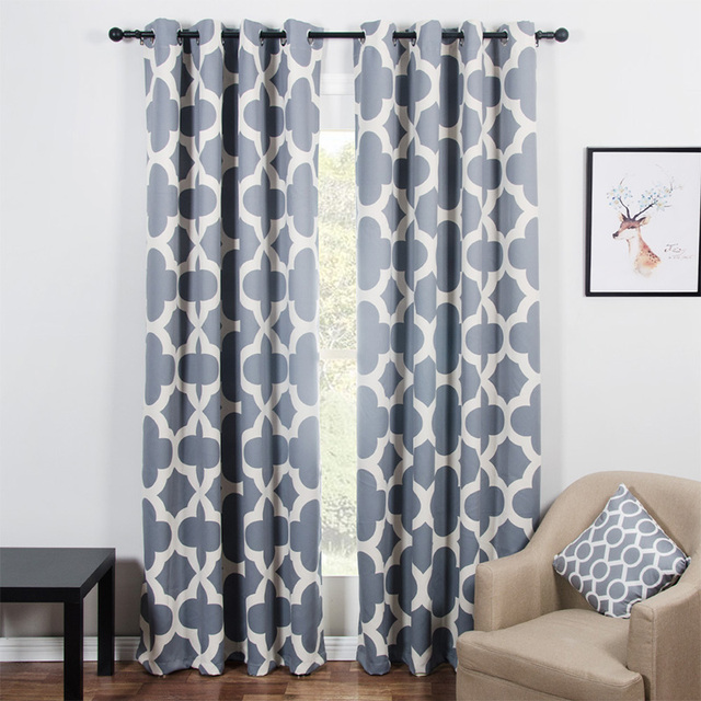 Modern Quatrefoil Pattern Blackout Curtains For Living Room The Gorgeous Pattern Curtains