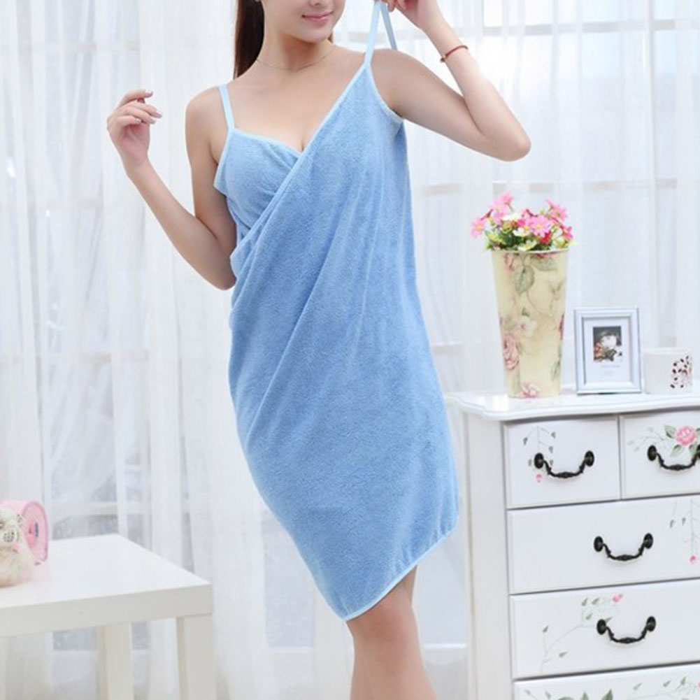 5a8b8464d2 Fashion Lady Girls Wearable Fast Drying Magic Bath Towel Beach Spa  Bathrobes Bath Skirt LBShipping
