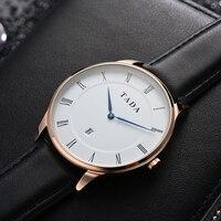 Genuine leather strap Men/women's wristwatches 3ATM wateprroof quartz analog watches Brand TADA Japan Movement Reloj Watches