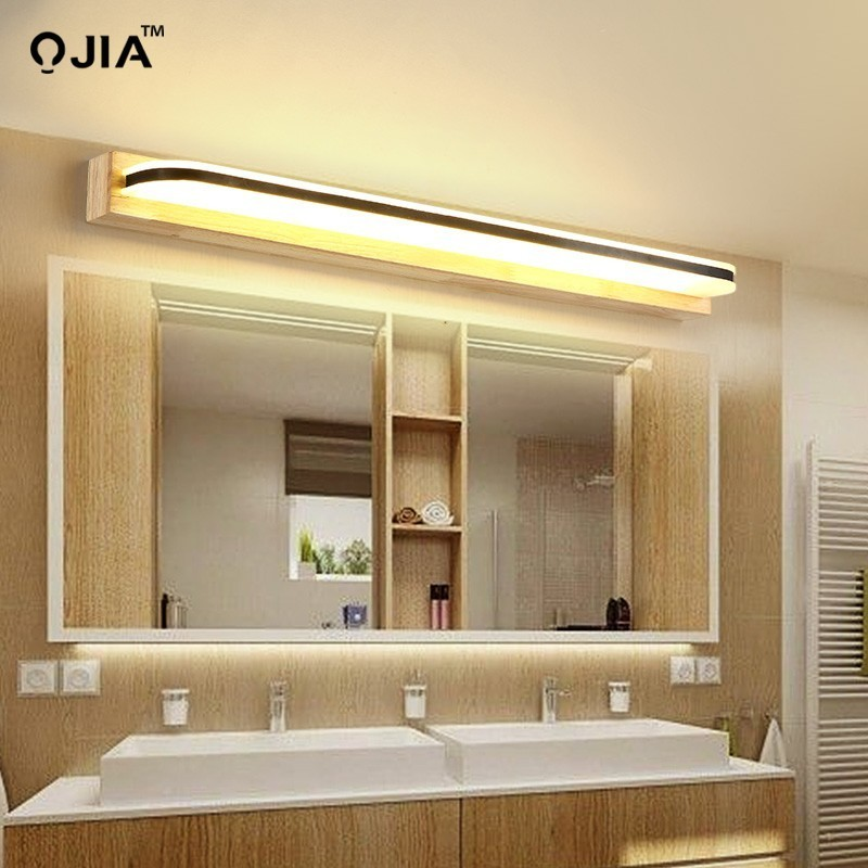 Simple Nordic Staircase Aisle Solid Wood Wall Lamp Bedroom Bedside Light LED Bathroom Mirror Front LightSimple Nordic Staircase Aisle Solid Wood Wall Lamp Bedroom Bedside Light LED Bathroom Mirror Front Light