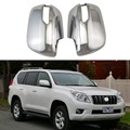 ABS хромированные дверные зеркальные крышки для Toyota Land Cruiser Prado FJ150 2009-2019 2 шт двери заднего вида