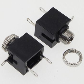 100pcs/lot 3.5MM headphone jack PJ-301M Audio Socket 3 feet with screw