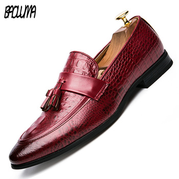 BAOLUMA Mens Designer Brand New Fashion Summer Spring Men Driving Shoes Loafers Leather Boat Shoes Male Casual Flats Loafers