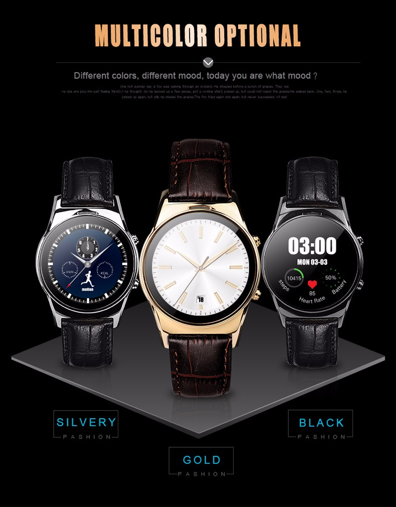 Round Smart Watch LW03 DM88 X01 D5 K8 K18 LEM1 K9 X5 Bluetooth 4.0 Smartwatch with Wif Connection for Android and IOS Smartphone
