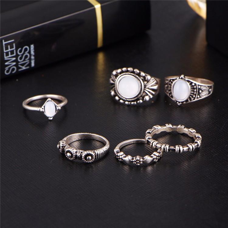 HTB12wMSOFXXXXbdXVXXq6xXFXXX2 6-Pieces Boho Ethnic Vintage Turquoise/Opal Knuckle Ring Set For Women - 2 Styles