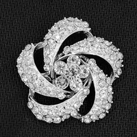 Stunning Clear Diamante Flower Brooch Wedding Bridal Bouquet Jewelry Accessories Pins Hot Hot Selling 2016 New Jewelry Brooch