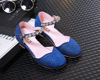 Enfants 2016 Kids Girls Princess Sandals High Heel Children Girl Wedding Shoes Girl Dress Party Shoes