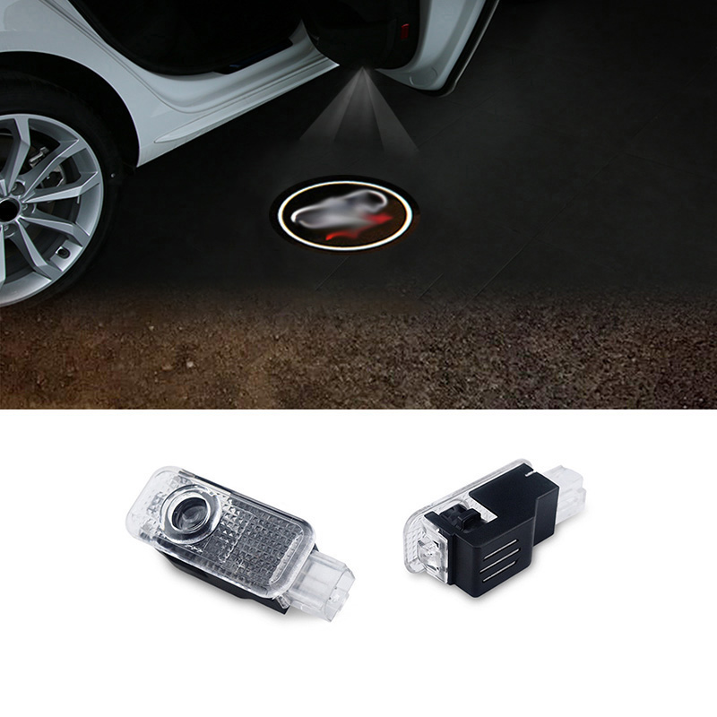 цена на 2pcs LED Car door welcome light courtesy led car laser projector Logo Ghost Shadow Light For Audi Logo power Light