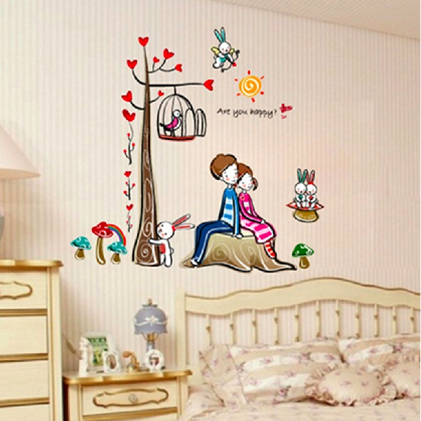 Lover Wall Stickers Tv Wallpaper Paste Decoration Applique