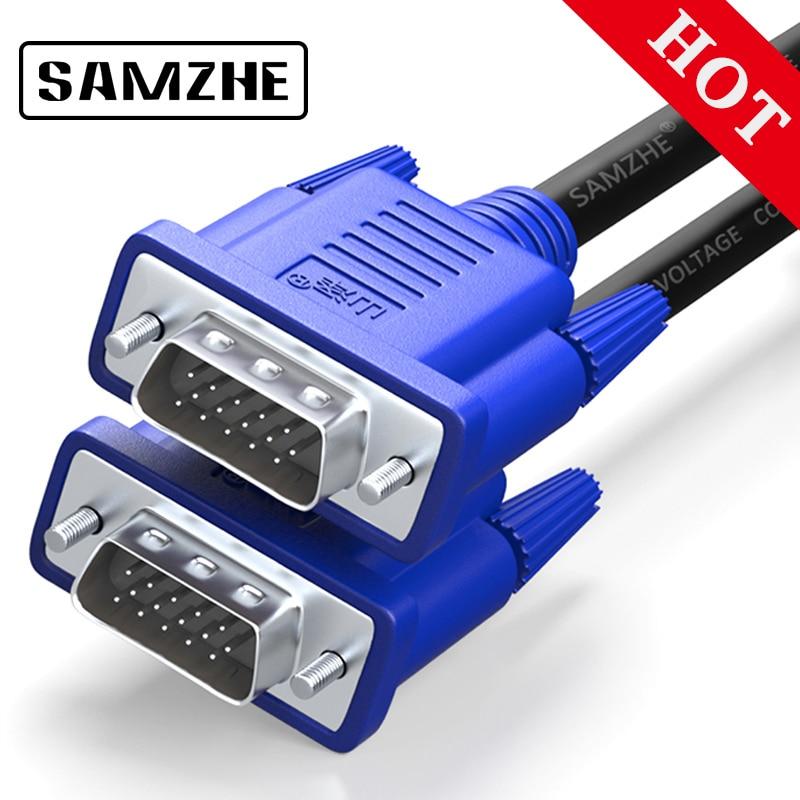SAMZHE 1080 p VGA Kabel Stecker-stecker 3 + 6 Pin VGA D-SUB in der lage für HDTV Multimedia Display 1,5 mt 3 mt 5 mt 10 mt 15 mt 20 mt 30 mt