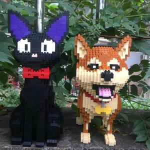 Image 3 - Mini Blocks Cute Shiba Inu Model Plastic Building Bricks Dog Educational Kids Toys Cartoon Cat Auction Figures Girls Gifts