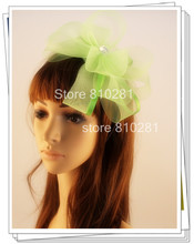 Ladies elegant feather flowers women hair accessories fancy fascinators for wedding hats bridal hats and races