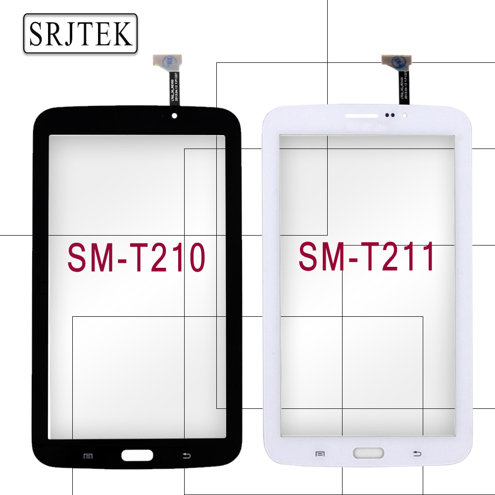 Srjtek 7 For Samsung Galaxy Tab 3 7.0 SM-T210 SM-T211 T210 T211 Touch Screen Digitizer Glass Panel Sensor Tablet PC Replacement new 7 inch for samsung galaxy tab 3 t210 sm t210 tab3 lcd touch screen lens glass outer front panel free shipping
