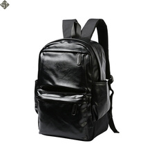 FUSHAN Leather Men Backpack Large Capacity Man Travel Bags High Quality Trendy Business Bag For Man Leisure Laptop Bag