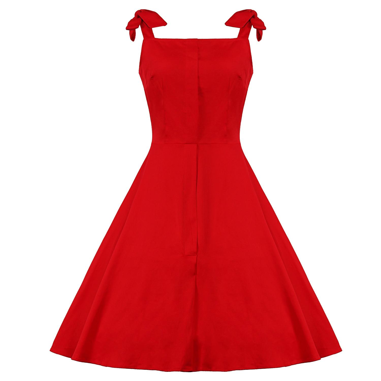 9f3f3a15e0b949 Plus Kleidung 60 Hepburn Kleid Größe 4xl Audrey Sommerkleid 50 2019 Rot  Vintage Damen Retro Stil Frauen ...