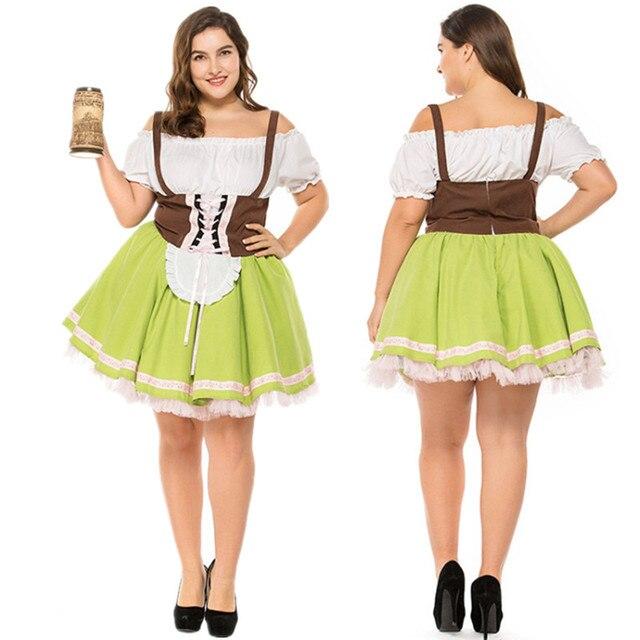 af14f8f1342c Sexy Adult Beer Girl Costume Halloween Costume German Oktoberfest Maid  Party Fancy Dress Plus Size M-XXXL